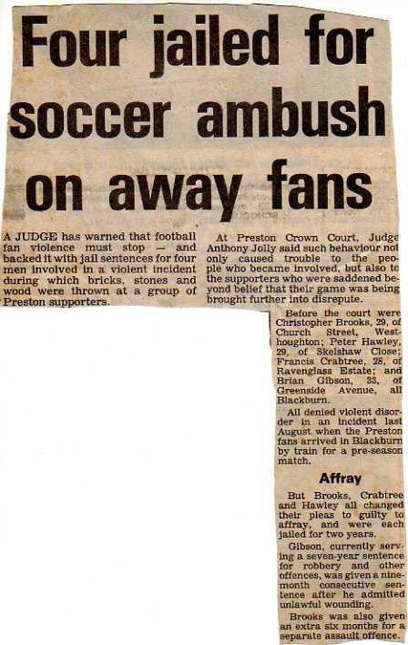 Blackburn Rovers hooligans Casuals