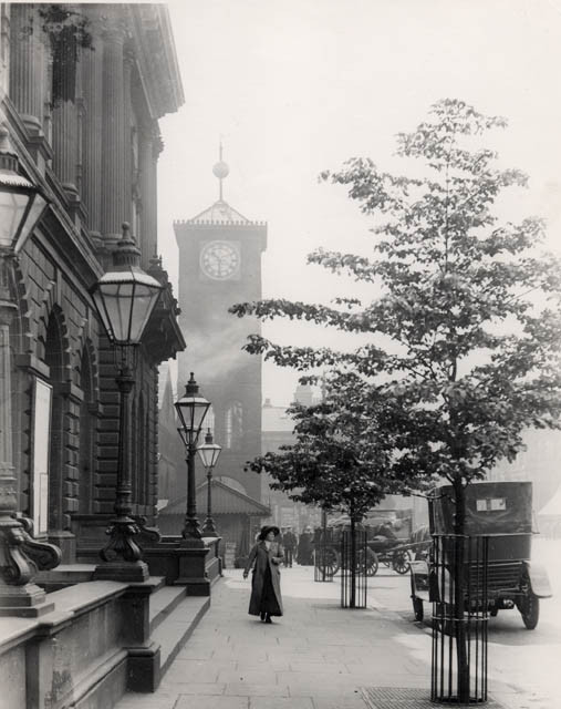 Blackburn's old clock tower in 1906 with time ball at the top of its mast