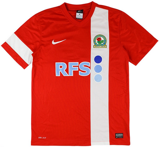 Rovers back to their traditional red and white away shirt with this traditional design.