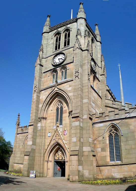 Blackburn Cathedral sits in the middle of the town centre