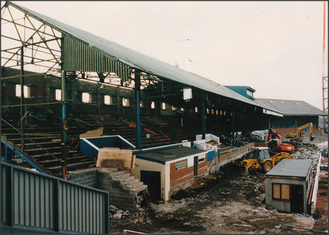 The Nuttall Street stand, 1993.