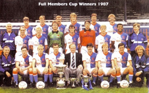 Blackburn Rovers: Full Members Cup 1987