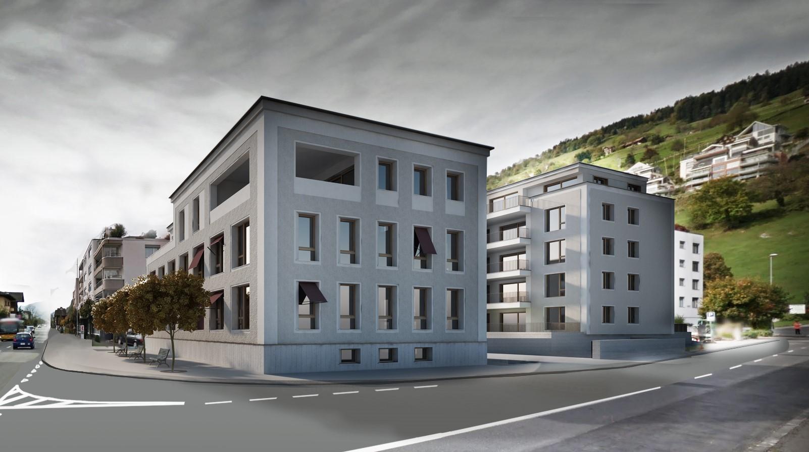 Wohn- und Geschäftshaus Kreuzmatte, Ennetbürgen NW