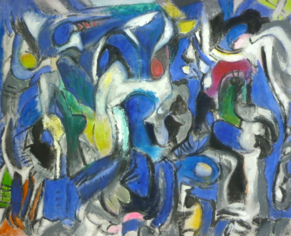 Symphonie im Blau  185cm. 150cm  Acryl auf Leinwand 2014