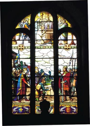 (vitrail de l'église de Saint-clair-sur-Epte