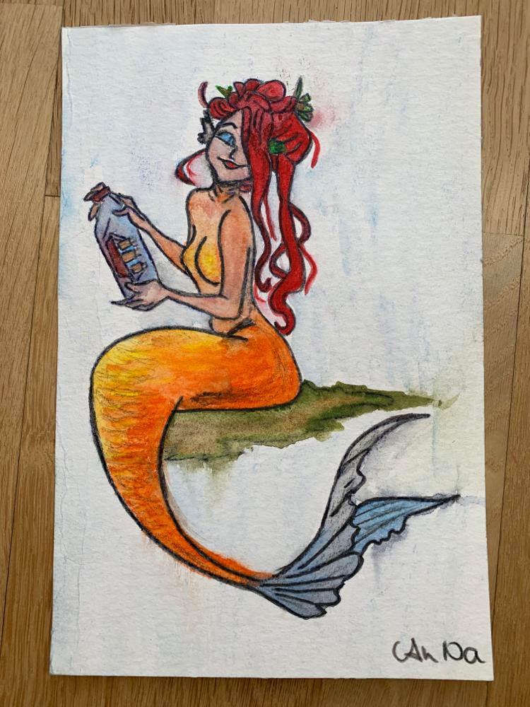 Aquarell auf Hahnemühle Papier (Original von Gretel Lusky)