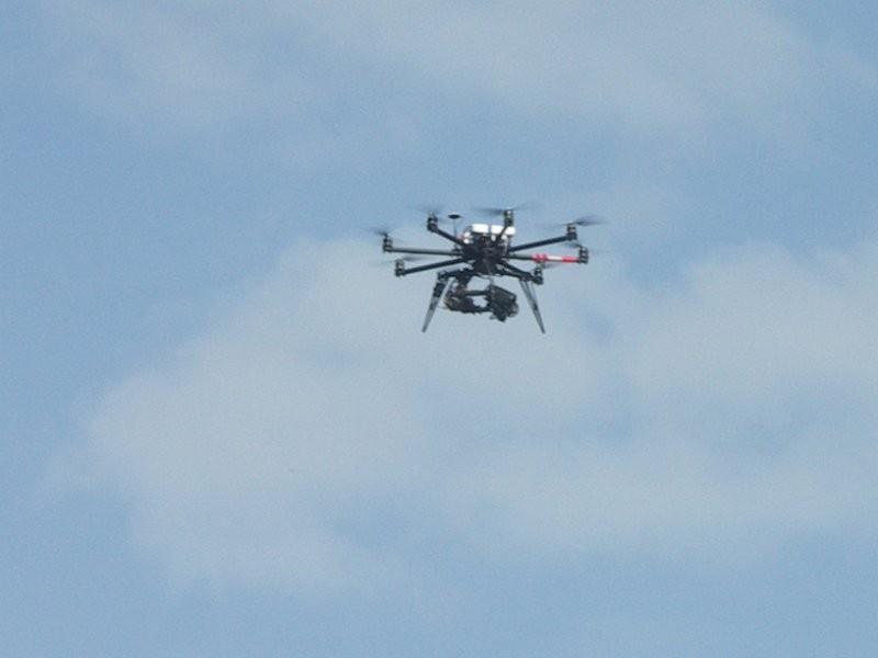 Le drone qui a assuré le reportage pendant le week-end