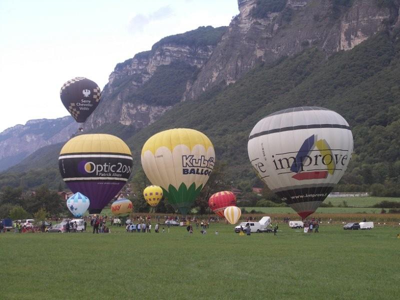 La coupe Icare, c'est aussi des montgolfières ...