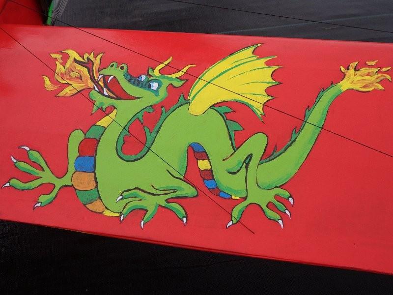 Le Dragon peint à la main du Baron de Léo