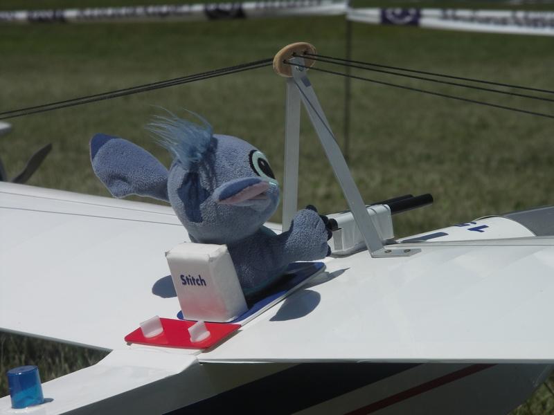 Près pour un vol avec Stitch ...