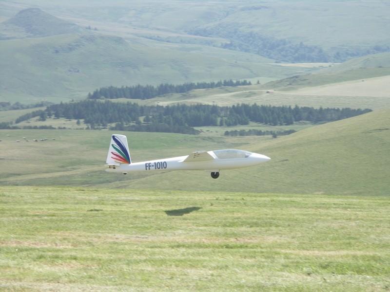 Le Swift à l'atterrissage