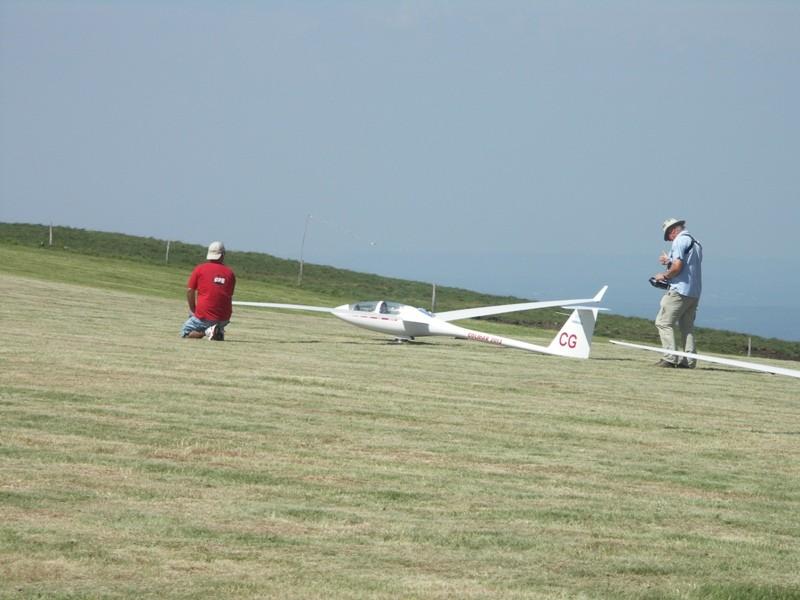 l'ASH 25 prêt à décoller