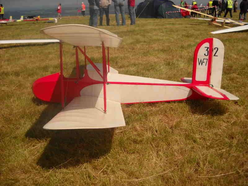 Un planeur biplan
