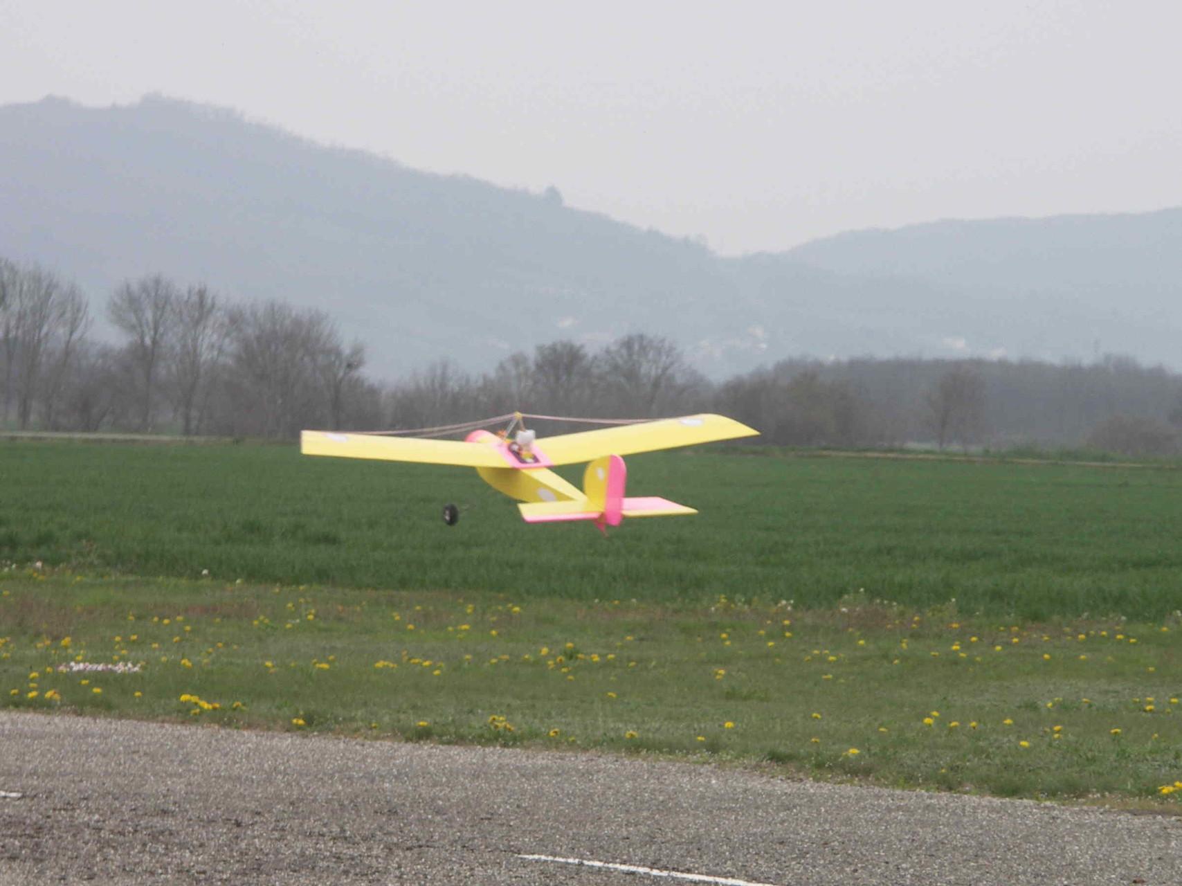 Le Baron au décollage (0,0016 T)