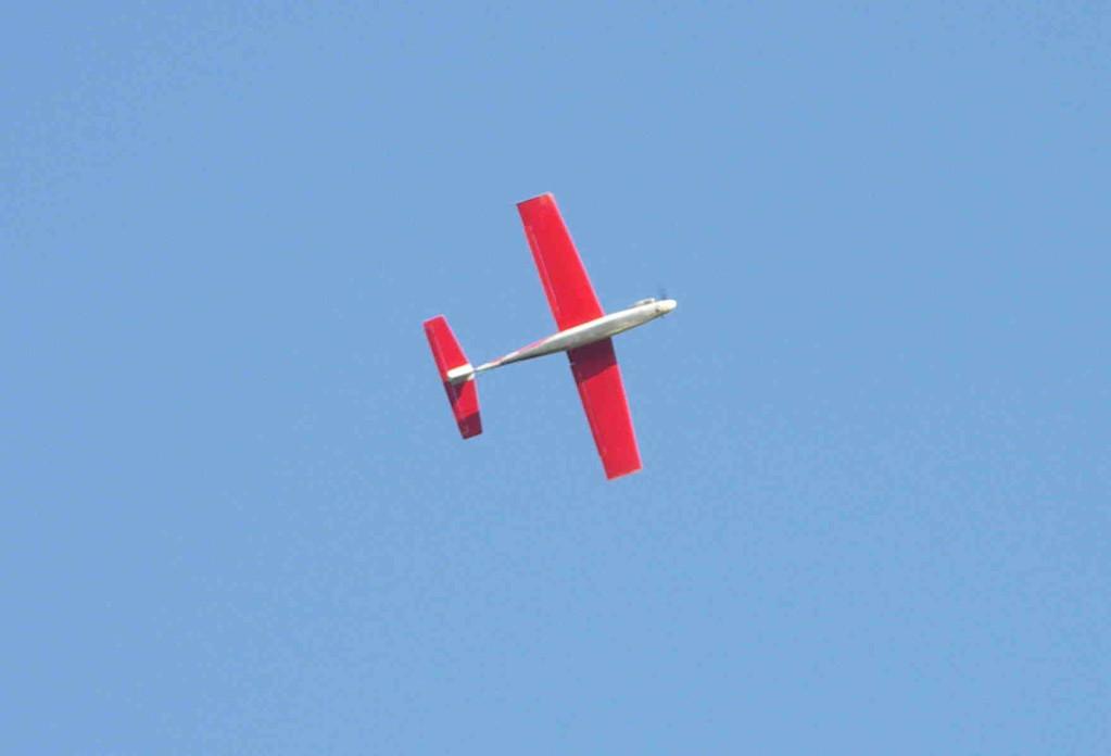 Le Red Arrow de Jacques à pleine vitesse