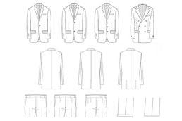 富山市オーダースーツ専門店 デザインを選びます。