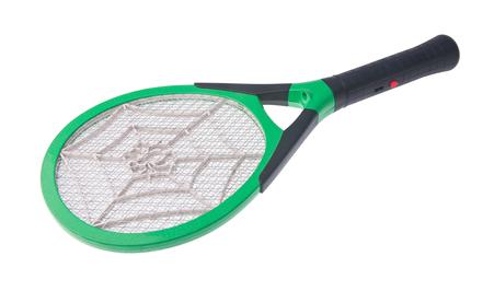 Der elektrische Tennisschläger ist eine effektive Art um Mücken loszuwerden.