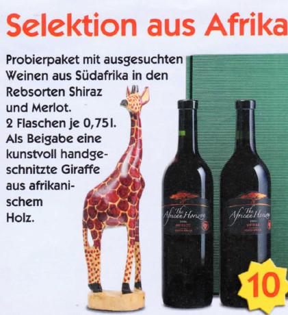 2 Flaschen Rotwein aus Südafrika