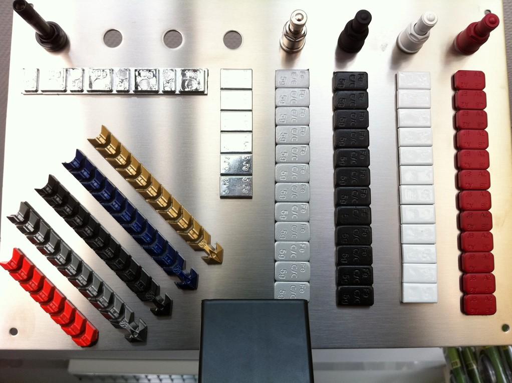 Klebegewichte & Metallventile in allen Farben