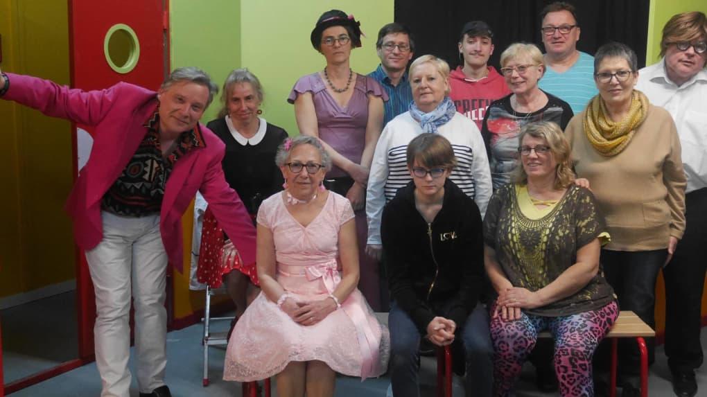 La troupe de comédiens en répétition. © Photo NR