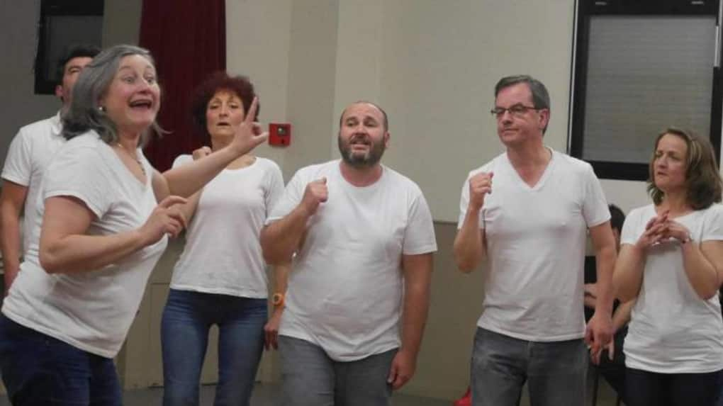 Les comédiens de Créteil en improvisation. © Photo NR
