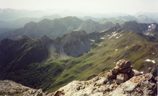 vue du sommet du pic de Pétragème