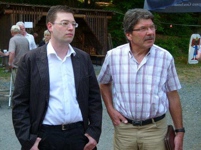 SPD-Fraktionsvorsitzender Christian Radkovsky und Erster Stadtrat Bruno Götz