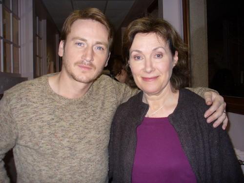 Benoît Magimel et Geneviève Robin, photo de tournage à Dinard