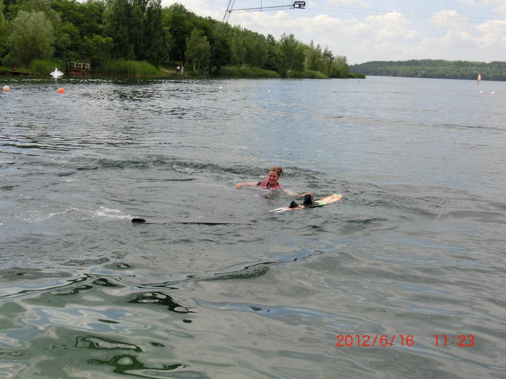 Tappi wollte lieber schwimmen, als fahren