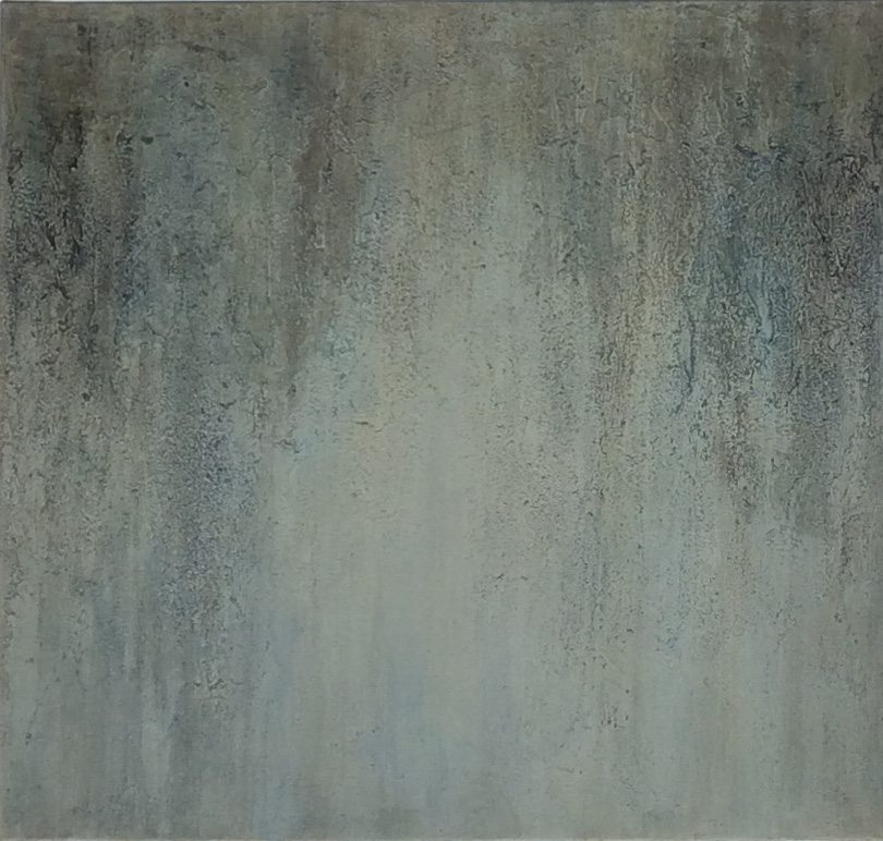 """Nebelwald"", 80 cm x 80 cm"