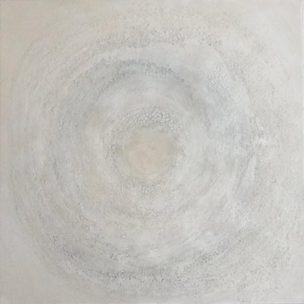 """Silbermond"", 80 cm x 80 cm"
