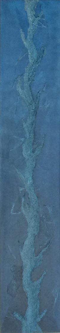 """Blaues Leben"", 30 cm x 180 cm"