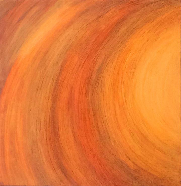 """""""Sonnenlicht"""", 80 cm x 80 cm"""