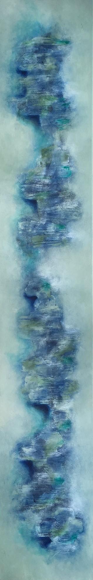 """Blue Twister"", 30 cm x 180 cm"
