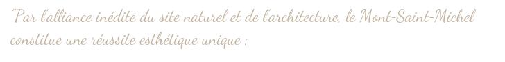 VUE Mont-Saint-Michel Patrimoine mondial