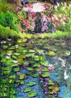 Rosenpavillon Acryl 60x80 2007
