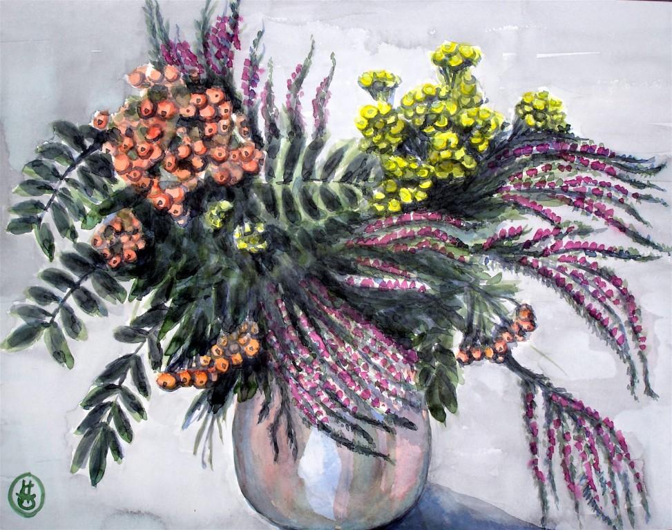 Heidestrauß 2 Aquarell 37x48 2005