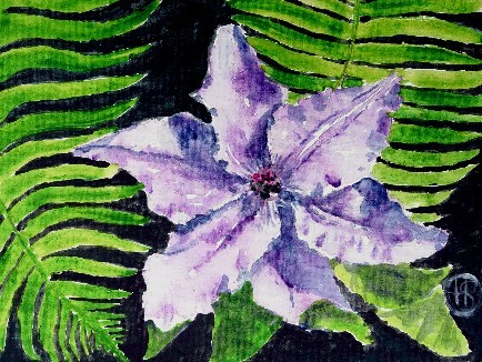 Clematis Acryl 18x24 2008