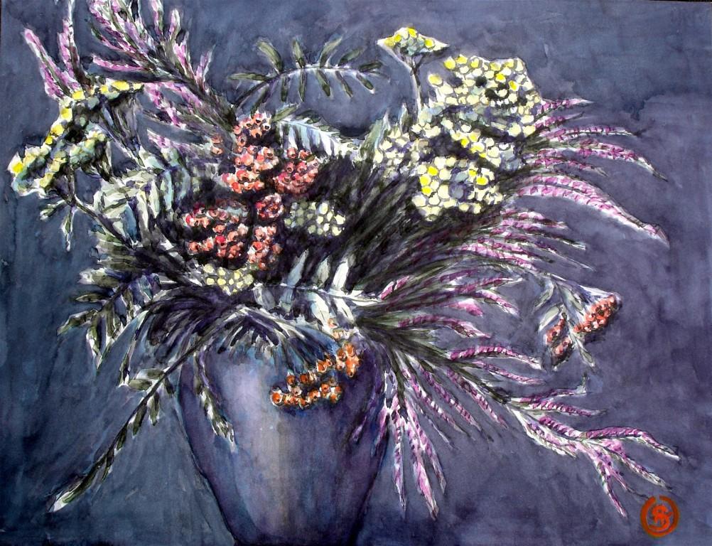 Heidestrauß 1  Aquarell 37x48 2005