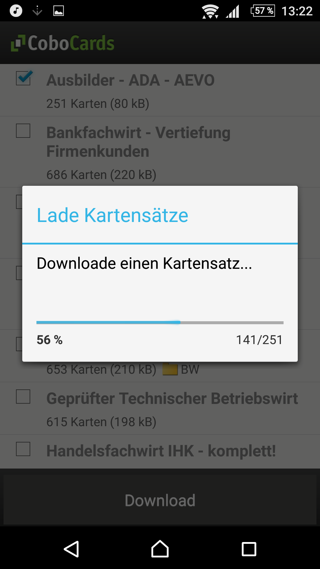 App-Version (kostenfrei): Kartensatz runterladen