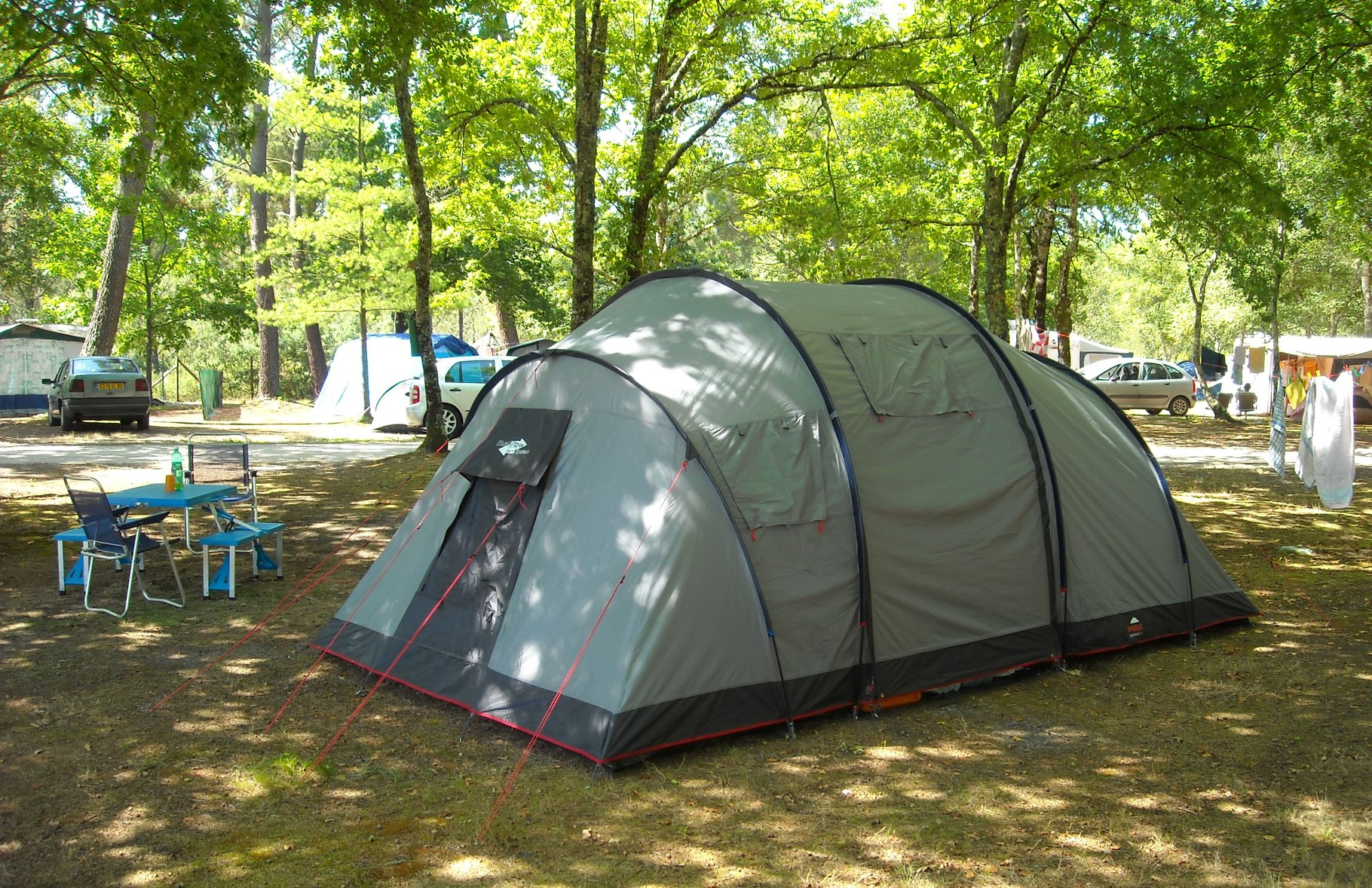 Pitch for tent