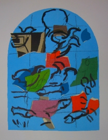 Ruben - Second color study from Jerusalem Windows PC.049 (1962)