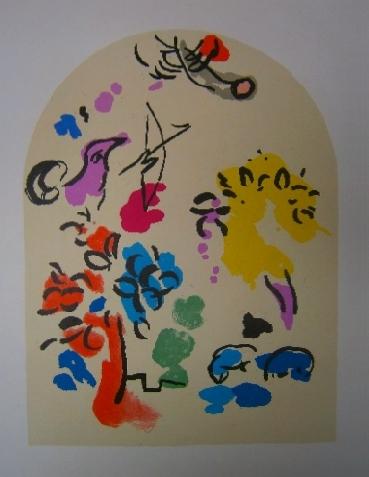 Joseph, first color study from Jerusalem Windows PC.049 (1962)