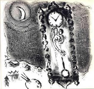 Marc Chagall, litho nr. M.112 'Les Pendules', 1956