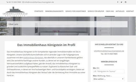Webseite Immobilienhaus Königstein