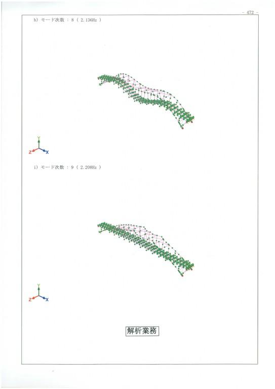 ○動的解析を伴う耐震補強設計・・・中路アーチ橋の3次元非線形動的解析