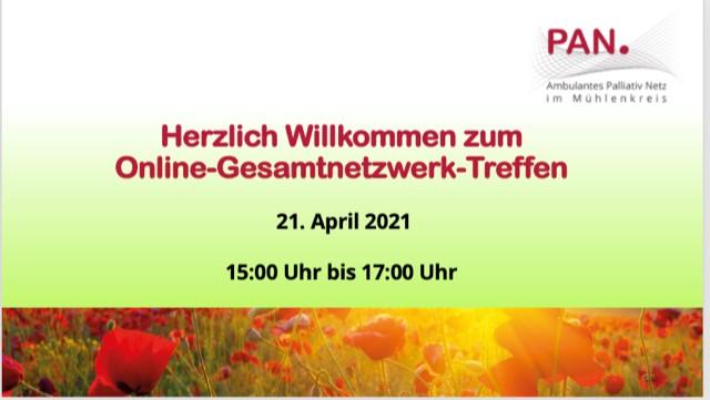 Online PAN Gesamtnetzwerktreffen am 21. April 2021