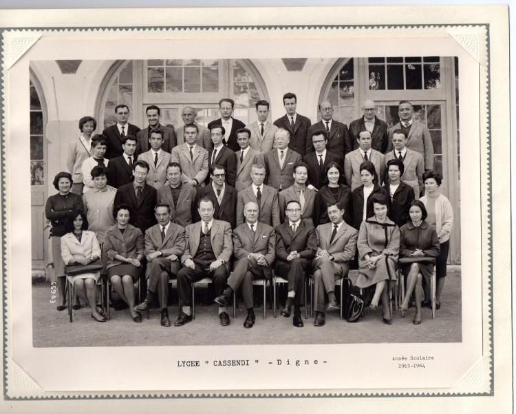 La direction et les profs du Lycée en 63-64