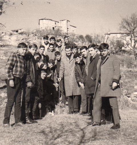 Robert Faverge et ses élèves de seconde - Expérience de Pascal à Courbon