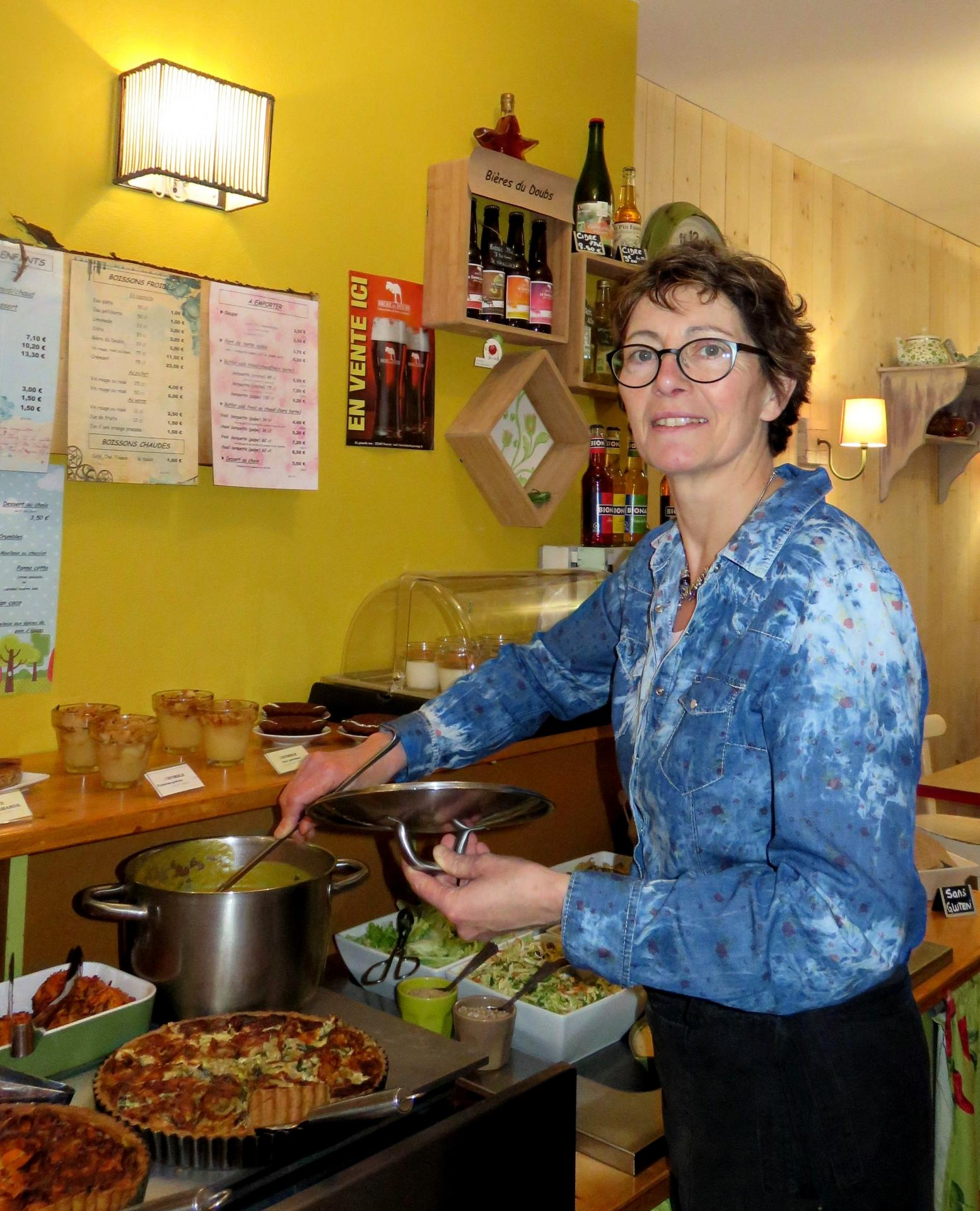 Catherine SIBILLE : Gérante d'une cantine bio et végétarienne à Besançon (France)